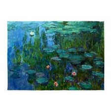 monet nymphea lily pond giverny 5'x7'Area Rug