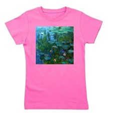 monet nymphea lily pond giverny Girl's Tee
