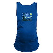 van gogh starry night Maternity Tank Top