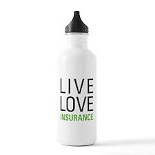 Live Love Insurance Water Bottle