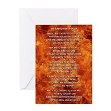 THE FIREFIGHTER'S PRAYER Greeting Card