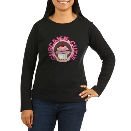 Cupcake Cutie t-shirt Women's Long Sleeve Dark T-S