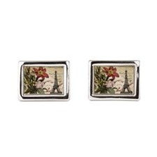 vintage lily paris eiffel to Rectangular Cufflinks