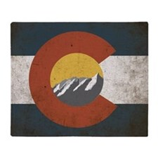 Colorado State Mountains Throw Blanket