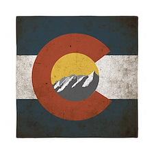 Colorado State Mountains Queen Duvet