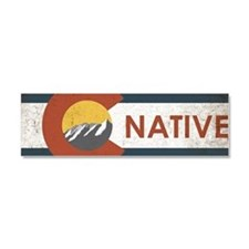 Colorado Native Red Car Magnet 10 x 3