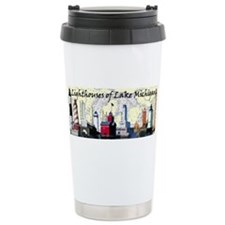 Unique Michigan lakes Travel Mug