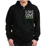 Live love garden Zip Hoodie (dark)