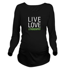 Live Love Lithograph Long Sleeve Maternity T-Shirt