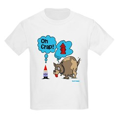 Gnome Visited by the Dog Kids Light T-Shirt