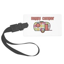 Happy Camper (Pinks) Luggage Tag