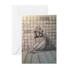 Girl Reading Greeting Card