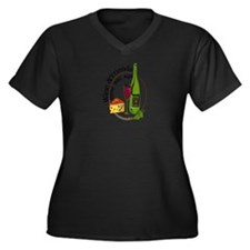 Cool Wine Women's Plus Size V-Neck Dark T-Shirt