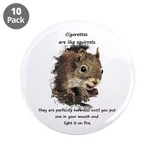 "Quit Smoking Motivational 3.5"" Button (10 Pac"