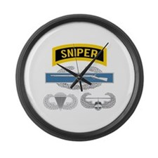 Sniper CIB Airborne Air Assault Large Wall Clock