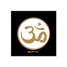 "Cute Om symbol Square Sticker 3"" x 3"""