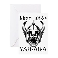 Cool Valhalla Greeting Card