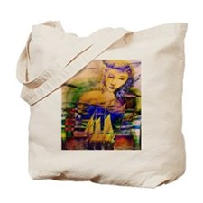Sailing through Sunset Tote Bag