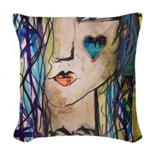 Punk Sail Woven Throw Pillow