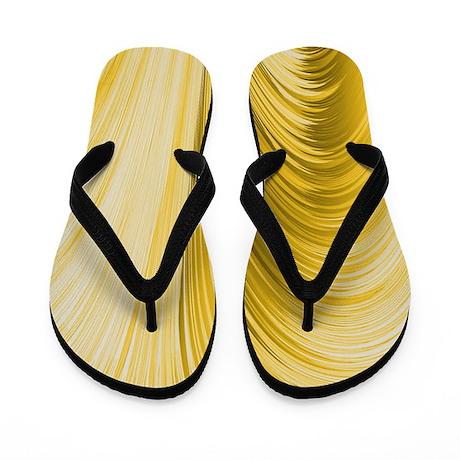 Golden Yellow Flip Flops