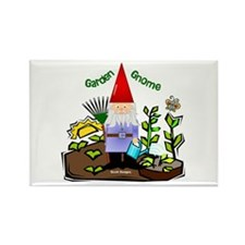 Garden Gnome Rectangle Magnet (100 pack)