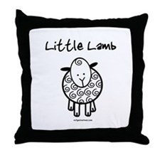 Unique Little lamb Throw Pillow