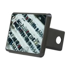 Aerial view of parked cars Hitch Cover