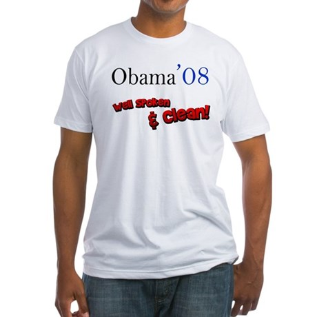 Obama Well Spoken & Clean Fitted T-Shirt