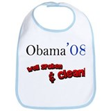 Obama Well Spoken & Clean Bib