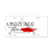 A Pint of Sweat Aluminum License Plate