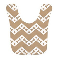 Cute Dog Bone CheCute Dog Bone Chevron TAN Bib