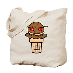 Ice Cream Face Tote Bag