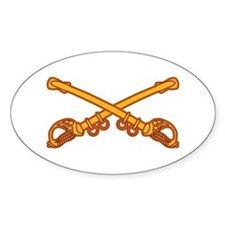 Cavalry branch Insignia Oval Decal