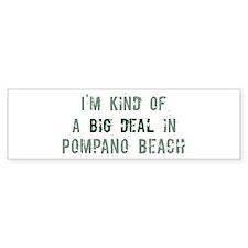 Pompano_Beach Bumper Bumper Sticker