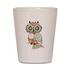 Multi Owl Shot Glass