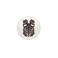 Red and Black Haida Tree Frog Mini Button (10 pack