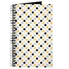 Cute Black, Gray, and Yellow Polka Dots Journal