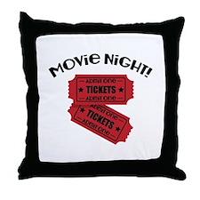 Movie Night! Throw Pillow