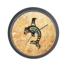 Scratched Teal Blue and Black Haida Spirit Killer
