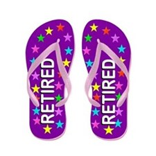 Purple Retired Flip Flops