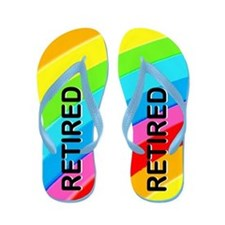 Retired Rainbow Flip Flops