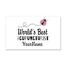 World's Best Acupuncturist Car Magnet 20 x 12