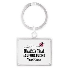 World's Best Acupuncturist Landscape Keychain