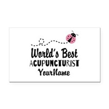 World's Best Acupuncturist Rectangle Car Magnet