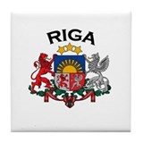 Riga, Latvia Coat of Arms Tile Coaster