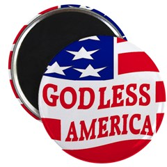 Godless America 2.25&quot; Magnet (100 pack)