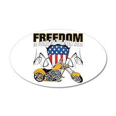 Freedom Chopper 35x21 Oval Wall Decal