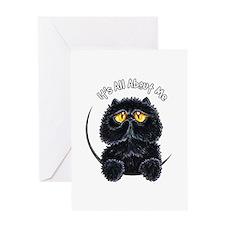 Black Persian IAAM Greeting Card