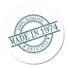 Made in 1974 Round Car Magnet