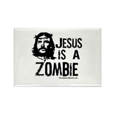 Jesus is a Zombie Rectangle Magnet